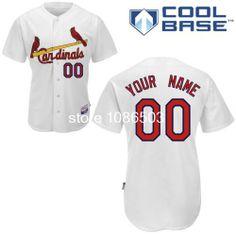 56d4a82aa Cheap Wholesale Mlb Men's Customize St. Louis Cardinals Baseball Jerseys  Custom Baseball Jersey Cool Base