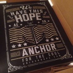 For all you #Anchor Lovers, this ones for you! UnlockHope.com #unlockhope #hope #africa