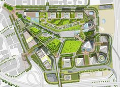 Case study of design of globally significant civic park and public realm by UK landscape architects Grant Associates.