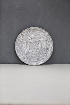 Small Grey Decorative Plate