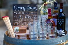 Wedding bar ideas and signs by Wed Our Way Canapes, Wedding Menu, Bar Ideas, Weddings, Table Decorations, Signs, Drinks, Food, Drinking