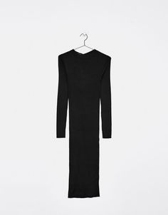 Vestido largo de punto - Vestidos - Bershka España