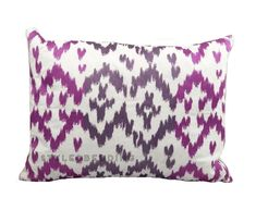 Blissliving Home Ikat Orchid Purple Pink Decoration Decorative Bed Pillow 12x16 #BlisslivingHome