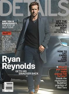Ryan Reynolds covers Details magazine August 2013