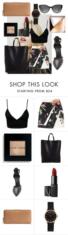 """Untitled #76"" by marinaxmilos ❤ liked on Polyvore featuring Dark Pink, Erdem, Bobbi Brown Cosmetics, CÉLINE, Helmut Lang, NARS Cosmetics, Coach, Marc by Marc Jacobs, Versace and Calvin Klein"