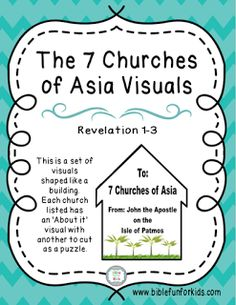 The 7 Churches of Asia in Revelation Visuals with lesson #Biblefun