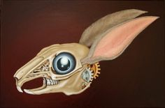A wacky bunny. Oil on canvas. 60x40cm.