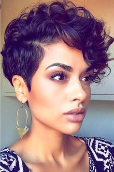 I would like to get my hair this short and stay curly  #Hairstyles For Women    www.allhairstylesforwomen.com Tag a friend who Love this!