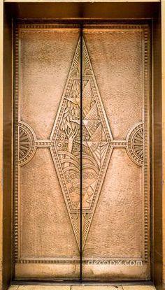 Elevator doors, Art Deco stylesourcefurther examples