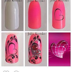 Мкногти, фото и видео уроки, маникюр's photos Nail Art Hacks, Nail Art Diy, Easy Nail Art, Diy Nails, Holiday Nail Designs, Holiday Nail Art, Diy Nail Designs, Nail Art Coeur, Nail Art Arabesque