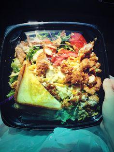 Zaxbys salads are so good. I like the buffalo chicken