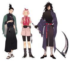 Shikamaru, Sakura and Madara Naruto Uzumaki, Anime Naruto, Naruto Sasuke Sakura, Naruto Cute, Madara Uchiha, Shikamaru, Sakura Haruno, Kakashi, Hinata