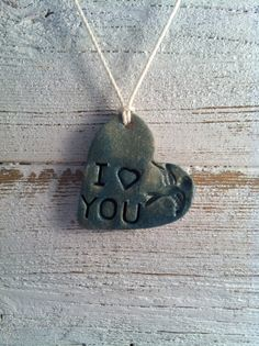 Ceramic Heart Pendant Teal Blue Rustic Jewelry by southerngracie, $20.00