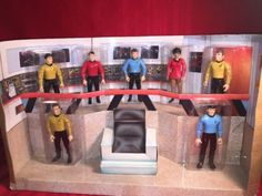 Classic-Star-Trek-Bridge-Collector-Figure-Set-1993-Playmates-Numbered-Edition