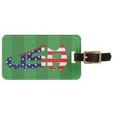 #USA Football #Soccer Design Bag Tags Luggage Tag. Available on a wide range of t-shirt and hoodie styles for men, women and kids! Please visit my store: www.zazzle.com/gamefacegear*/ #worldcup #brazil2014 #GoUSAGo