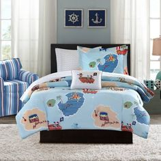 Product Image for Mi Zone Kids Ahoy Matey 6-Piece Comforter Set in Blue 2 out of 3