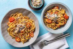 Deel me op Pinterest Sauce Crémeuse, Veggie Pasta, Vinaigrette, Pesto, Macaroni And Cheese, Veggies, Fresh, Vegan, Ethnic Recipes