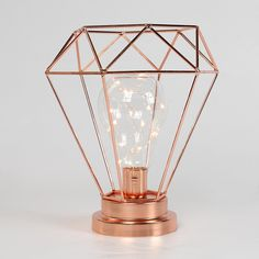 Lampe Im Kupfer Design Mit Glühbirne Im Vintage Look #vintage #shabby #kult  #