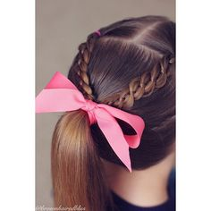 Little girl hairstyles. 4 strand braid.