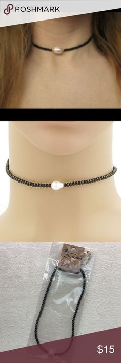 "Freshwater Pearl Faceted Bead Choker Brand new Freshwater Pearl Faceted Bead Choker. Length is 12"" with 3"" extension. Nickel and lead free. Pic 1 for style inspiration only Bchic Jewelry Necklaces"