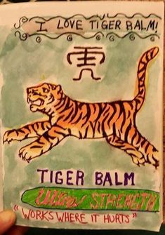 Here's a different kind of #PhotoBalm - a hand-drawn illustration by Tiger Balm U.S. Fan Holly Stone. Thanks Holly! 🎨  #TigerBalm #PainRelief #RoarBack #WorksWhereItHurts #ActiveLifestyle #Arthritis #Backache #BackPain #BodyPain #Exercise #FitFam #FitLife #Fitness #FitnessMotivation #Gainz #Gym #HealthyLife #JointPain #MassageTherapy #MusclePain #NeckPain #NoPainNoGain #Pain #PhysicalTherapy #Rehab #Relief #SoreMuscles #Workout  🎨 🐯 Tiger Balm, Muscle Pain, Sore Muscles, Neck Pain, Massage Therapy, Physical Therapy, Arthritis, Pain Relief, Hand Drawn