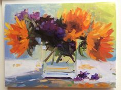 Mixed Set Summer Bouquets Note Cards by AmyBrngerArtCards on Etsy