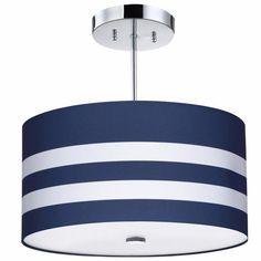 Navy Stripes Light Fixture
