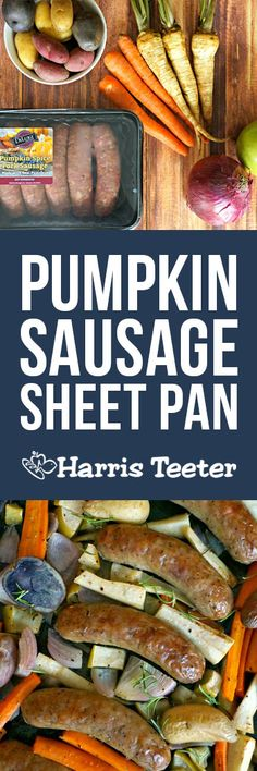 Delicious, healthy, and full of fall flavor -- you're going to love our Pumpkin Sausage with Orzo! Thanksgiving Recipes, Fall Recipes, Great Recipes, Dinner Recipes, Favorite Recipes, Cooking Recipes, Healthy Recipes, Healthy Foods, Pork Dishes