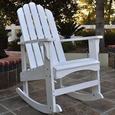 Shine Company Marina Porch Rocker - Outdoor Rocking Chairs at Hayneedle