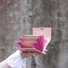 leder portemonnaies kaufen damen rosa