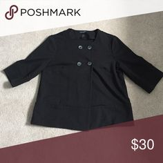 Banana Republic medium 3/4 sleeve knit jacket Black, double breasted 2 button jacket with 3/4 sleeve Banana Republic Jackets & Coats Blazers