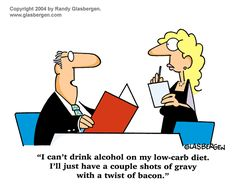 Well, I guess that beats nothing! ;-) | via @SparkPeople #humor #funnies #cartoon #lowcarb