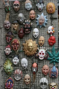 How to Make Easy Paper Mache Masks. Papier-mache masks are a festive accessory for any occasion, including birthdays, Halloween or Fourth of July celebrations. The decorative masks can be worn, or…MoreMore Making Paper Mache, Paper Mache Mask, Paper Mache Sculpture, Sculptures, Diy Paper, Paper Art, Paper Crafts, Diy Crafts, Paper Mache Crafts For Kids