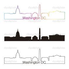 washington dc skyline silhouette - Google Search