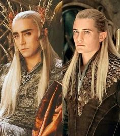 Father and Son. I think Lee Pace was a great choice for Thranduil because he and Orlando really do look like they could be related!