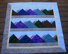 Mountain quilt - Dead link, but could easily be recreated.