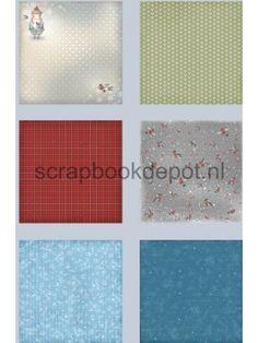 Once Upon a Winter Papier pakket 24 vel 15,2x15,2cm, Scrapbookdepot