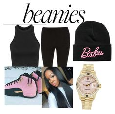 A fashion look from January 2017 featuring pull on pants, gold watches and beanie caps. Browse and shop related looks. Pull On Pants, Rolex, Fashion Looks, Beanie, Polyvore, Shopping, Beanies, Beret
