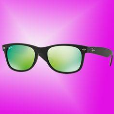 d31a91a3bb Ray-Ban New Wayfarer Flash Matte Black Unisex Sunglasses