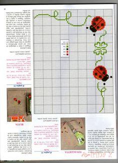 "Photo from album ""Ric Amare le rose Maggio on Yandex. Cross Stitch Borders, Cross Stitch Baby, Cross Stitch Designs, Cross Stitching, Cross Stitch Embroidery, Cross Stitch Patterns, Stitch Crochet, Rico Design, Hand Embroidery Patterns"