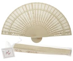 8 Inch White Wood Panel Hand Fan w/ Organza Bag for Weddings for Sale Now! We offer hand fans in many colors, materials, and designs! Oriental Paper Folding Wedding Hand Fans on Sale in Bulk at Best Wholesale Prices. Hand Fans For Wedding, Wedding Hands, Gold Wedding, Paper Lantern Store, Paper Lanterns, White Wood Paneling, Wooden Hand, Party Lights, Paper Folding