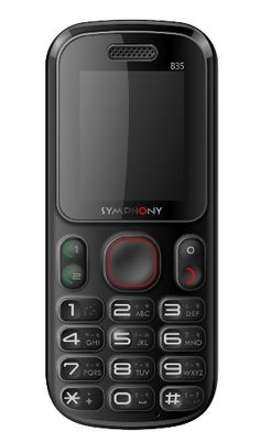 """Symphony B35 http://www.bdcost.com/symphony+b35 Memory Card SlotMicroSD card slot Expandable up to 4GB BluetoothNo USBYes InfraredNo StatusAvailable Display1.8"""", TFT display, 128 x 160 pixels Talk Time7.3 Hours Stand By710 Hours BrowserNo JavaNo Other FeaturesAudio & Call recorder, 200 Phonebook Entries, Torchlight"""