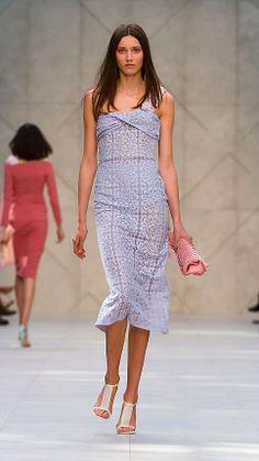Cotton Lace Bustier Dress   Burberry