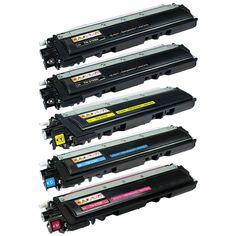 5 Pack Toner Set For Brother Black Yellow Cyan Magenta Brand Names And Logos, Professional Image, Printer Scanner, Process Art, Toner Cartridge, Retail Packaging, Brother, Printers, Magenta