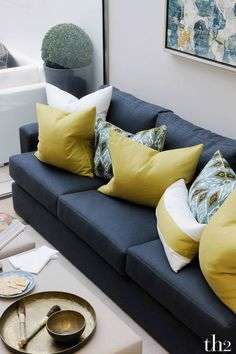 is a top London interior design studio. With over 30 years of experience, we are passionate about delivering the very best interiors for our clients. Luxury Interior Design, Interior Design Living Room, Living Room Designs, Deco Furniture, Home Furniture, Grey And Yellow Living Room, Classy Living Room, Yellow Interior, Beautiful Interiors