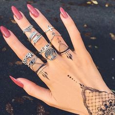 Trendy Nails, Cute Nails, Gel Nails, Acrylic Nails, Coffin Nails, Nail Polishes, Acrylics, Nagel Hacks, Tattoo Designs