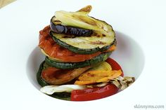 Italian Roasted Vegetables with Summer Basil. So tasty!! #vegetablerecipes #roastedvegetables #zucchinirecipes #bellpepperrecipes