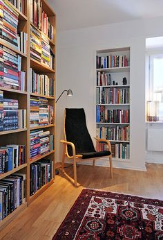 Reading corner Tip: To save space, create a built-in bookcase near your reading corner.