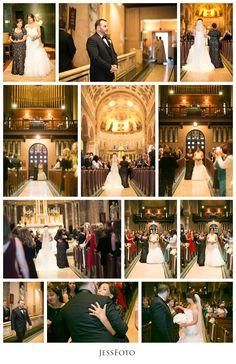 St. Catherine's of Genoa : Caroline + John : Walking Down the Aisle