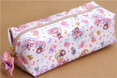Piggy Girl piglet pencil case with ribbons by San-X